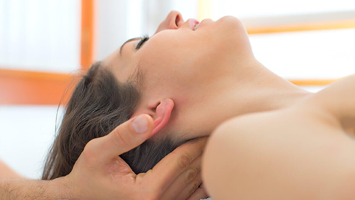 Neck massage at Warwick Massage Lacey