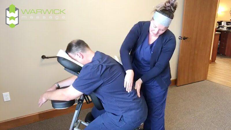 Dr Warwick gets a massage at Warwick Massage Lacey
